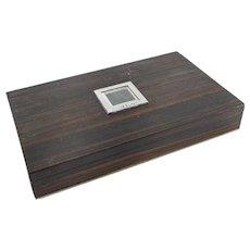 Mid-Century Modern MCM Rosewood Cigarette Box