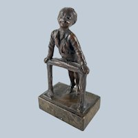 German Bronze Figure of a Charming Boy