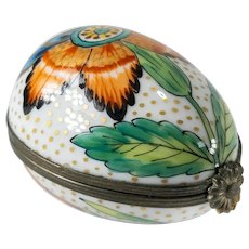 French Limoges Peint Main Pill or Trinket Box