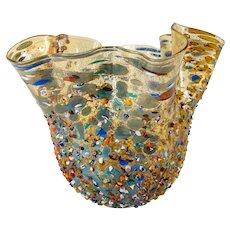 Italian Murano Venetian Art Glass Zecchin Bowl