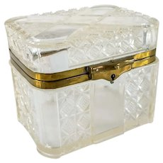 Russian Pressed Glass Dresser or Vanity Box