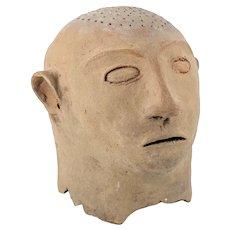 Pacific Tribal Philippines Maitum Burial Head Figure