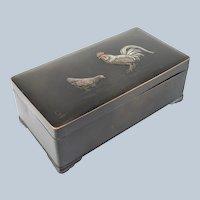 Japanese Mixed Metal Bronze Box by Nogawa Noboru