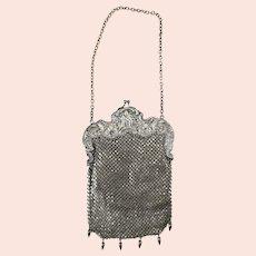 Sterling Silver Unger Brothers Mesh Purse Handbag