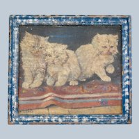 Charming Oil Painting on Canvas of Kittens