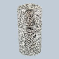 Gorham Sterling Silver Floral Repousse Perfume Scent Bottle
