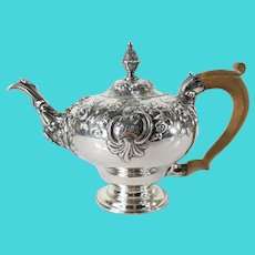 English Georgian Sterling Silver Teapot