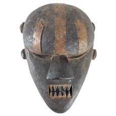 African Carved Tribal Mask Salampasu Tribe