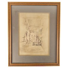 17th or 18th Century Old Master Renaissance Sketch