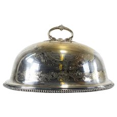 Victorian Silver Plate Meat Dome
