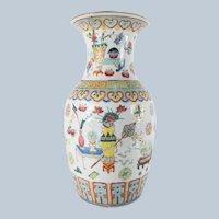 Chinese Famille Rose Republic Style Vase