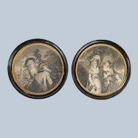 Pair of Framed 18th Century Aquatint Engravings