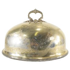 English Victorian Sheffield Silver Plate Meat Dome