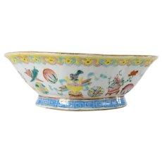 Chinese Famille Rose Bowl Tongzhi Mark