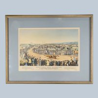 """Currier and Ives Chromolithograph of """"Peytona and Fashion"""""""