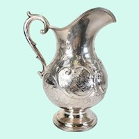Albany Coin Silver Water Pitcher by Wendell & Feltman