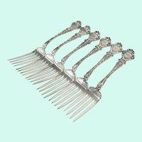 6 Sterling Silver Jester or Devil Figural Dinner Forks