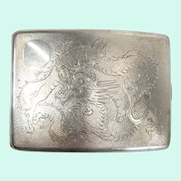 Antique Chinese Export Silver Cigarette Case