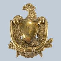 Vintage Reproduction Brass American Federal Eagle Door Knocker