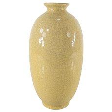 Vintage Beige Ivory Crackled Decorative Vase