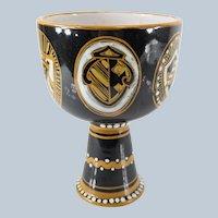 Neoclassical Mid Century Italian Majolica Vase
