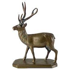 Miniature European Bronze Model of a Stag Deer Elk