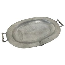 Early English London Hallmarked Pewter Meat Warmer Serving Tray