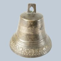 Russian 19th Century Bronze Bell with Cyrillic Writing