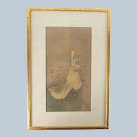 Japanese Ukiyo-e Woodblock Print of Geese by Ohara Koson