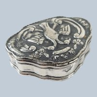 Early 17th/18th Ottoman Silver Tughra Marked Snuff Box