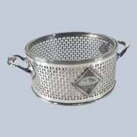 Silverplate Wine Coaster by Meridian Britannia with Crystal Glass Insert