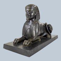 19th Century Fine Egyptian Revival Bronze Sphinx