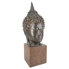 South East Asian Thai Sukhothai Buddha Head 14th-15th Century