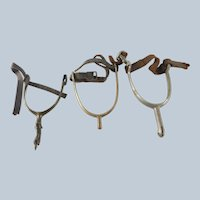 Group of 3 Spanish Colonial Western Horse Spurs