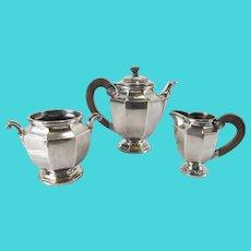 French Christofle Silverplate Art Deco Tea Set