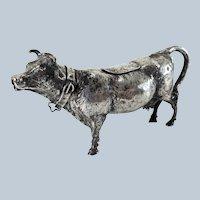 German .800 Hanau Silver Fine Cow Creamer by Neresheimer & Sohne