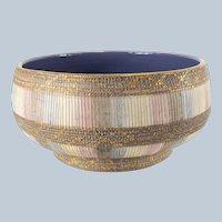 Italian Mid Century MCM Art Pottery Bowl Aldo Londi for Bitossi