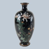 Japanese Floral Decorated Cloisonne Vase Damaged