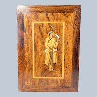 Persian Middle Eastern Orientalist Inlaid Wood Panel