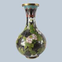 Chinese Cloisonne Enamel Floral Vase