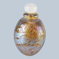 American Art Glass Iridescent Perfume Bottle by Robert Eickholt
