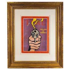 Framed Roy Lichtenstein Time Magazine Cover