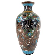 Japanese Antique 19th Century Meiji Cloisonne Vase