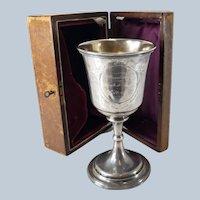 American Coin Silver Cased Presentation Award Trophy