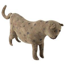 American Folk Art Stuffed Leopard Toy Figure
