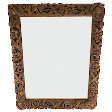 Italian Carved Baroque or Rococo Wood Painting Picture Frame