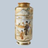 Japanese Miniature Satsuma Vase Takezan Kozan