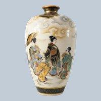 Fine Japanese Satsuma Vase by Ryozan