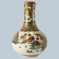 Japanese Finely Painted Miniature Satsuma Vase
