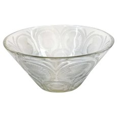 Vintage French Lalique Crystal Art Glass Thistle Bowl